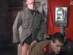 Young Soviet policeman fuck and cum