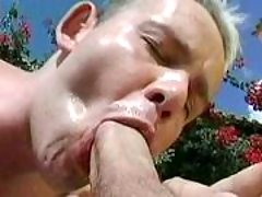 Handsome gays in anal action