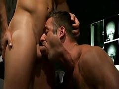 Mature doctor deep throats hard cock
