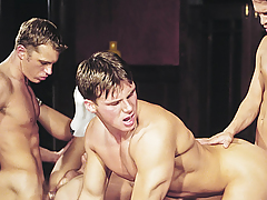 Orgy! Chaps Loving Exchanging Tongues & Ramrods In Their Holes