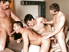 Julian Vincenzo watches a group of hungry boys fuck and suck