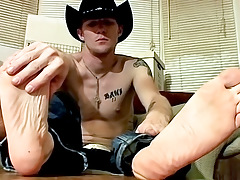 Cowboy Feet And Shlong Stroking! - Ty And Lee Barstow