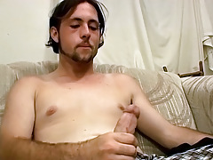 Shaggy, Straight, Amateur Chap Experiments with Sex Apparatus - TrikinMatt
