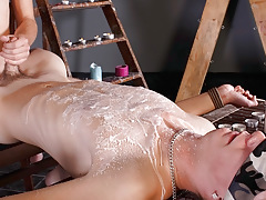 Splashed With Wax And Cock cream - Luca Finn And Aiden Jason