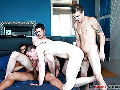 Gangbang w Tyler, Ryan, Skyler, & Kaden
