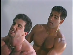 Gay guy muscle studs have clammy anal in garage in 4 movie