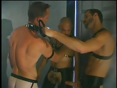 Gay chamber fucking action scene with leather in 1 movie scene