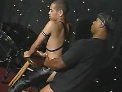 Narrow black ass plugged real hard