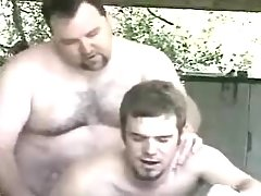 Bear mature gay fucks amateur guy in garage
