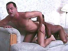 Black gay taking good anal reaming