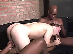 Handsome black stud gets deep assbanging