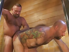Old hairy gay fucks tight males asshole