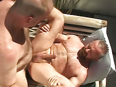 Hairy gay men hard fuck outdoor