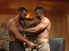 Muscle hairy gay seduces boyfriend in house hunting