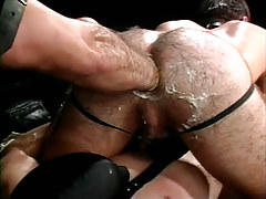 Bear gay fistfucks hairy males asshole