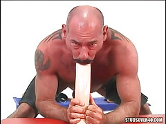 Mature hairy gay throats giant dildo
