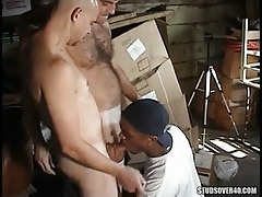 Interracial gays suck in orgy