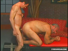 Bear dilf hard fucks silver dad in doggy style