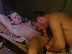 Young gay sucked by mature man