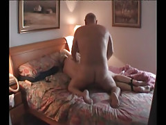 Fat mature gays fuck in bed