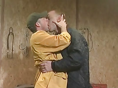 Two cute gays kissing