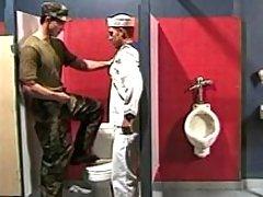 Navy boy sucks in toilet